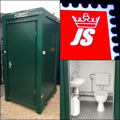 £2200+VAT NEW Single Green Or Blue Portable Building Toilet Site Loo Cabin