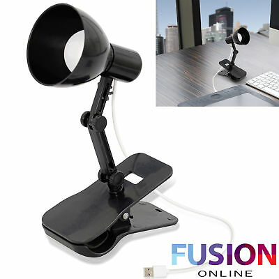 Usb Clip Light Lamp Led Headboard Craft Reading Table Portable Clamp Adjustible