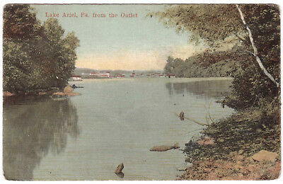 AK US USA Post Card Lake Ariel from the Outlet ungelaufen v. 1945