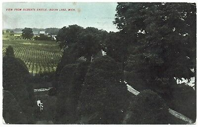 AK US USA Post View from Gilberts Castle Indian Lake gelaufen 1911