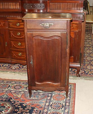 French Antique Louis X Jam Cabinet Solid Oak Wood Nightstand 1 Drawer Table