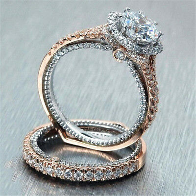 Alloy 14K Solid Rose Gold White Artificial Zircon Women's Fashion Jewelry