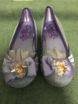 """Disney Store """"Sofia The First"""" Girl Costume Dress Shoes Size 11/12 New"""