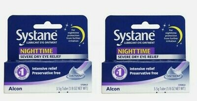 Systane Nighttime - SET OF (2) 3.5g Lubricant Eye Ointment Overnight EX 08/2021+