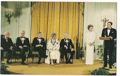 RONALD & Nancy REAGAN  Kennedy Center Frank Sinatra Jimmy Stewart POSTCARD