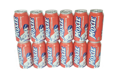 Moxie Soda 12-12oz Cans  - Maine Soft Drink - Fast Free Priority Shipping