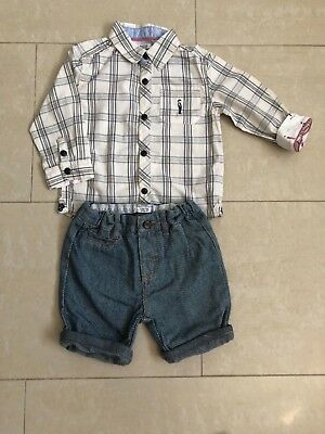 Mamas and Papas boys 2 peace outfit age 12-18 months.