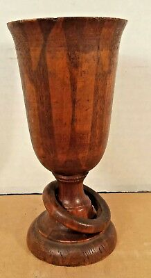 Ohl & Hauschild Wood Goblet  with Captive Ring - Centennial Exhibition 1876