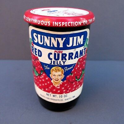 Vintage Sunny Jim Jelly Jar - Full Unopened - Seattle