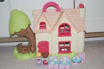 Elc Happyland Cherry Lane Cottage Dolls House With Figures & furniture