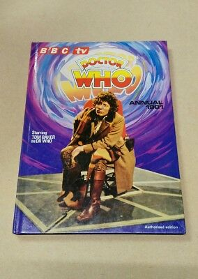 Vintage DOCTOR WHO Annual 1981 Tom Baker - BBC, Hardback, Unclipped, NEAR MINT