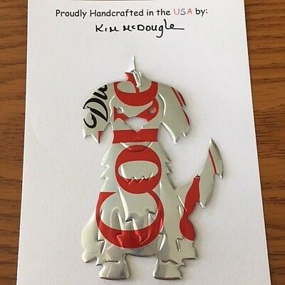 Custom Made Diet Coke Coca-Cola Aluminum Can DOG Christmas Ornament NEW
