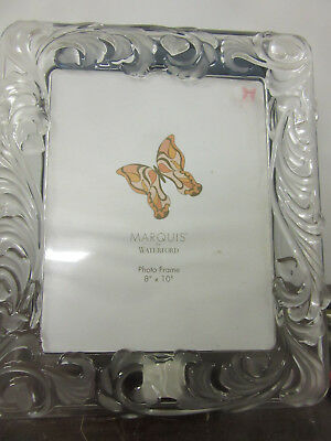 """Marquis by Waterford picture frame    crystal 12""""x14"""" picture size 8""""x10"""" new"""