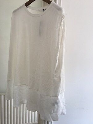 BNWT Next Maternity White Sleeveless Top Vest Size 16