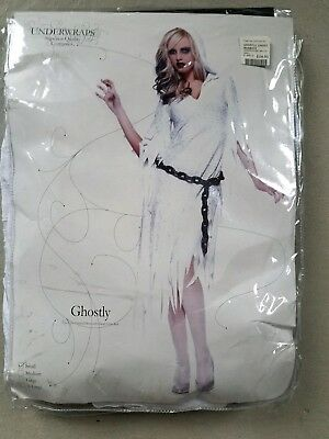 B NEW Adult Underwraps Ghostly Halloween Costume Size S