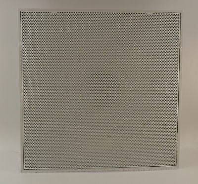 """White 24"""" 51/2# T-Bar Ceiling Return Air Vent Grille Perforated Face Grille"""