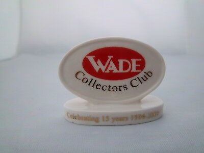 Wade Collectors' Club Plaque - Celebrating 15 Years - Excellent Condition