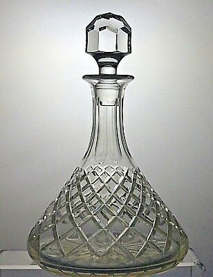 Beautiful Design Crystal Cut Glass Ships Decanter
