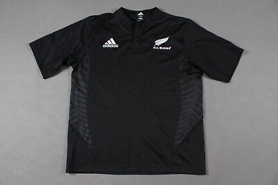 ab07ddf7bb9 New Zealand All Blacks 2007/2008/2009 Home Rugby Union Shirt Jersey Adidas (