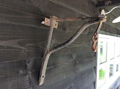Nice 19th Century Small Sign Hanger Or Pot Hanger Sway Fireplace Garden Hanger