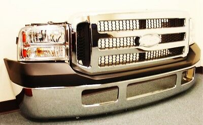 2005 2006 2007 Ford F250 F350 F450 Front End Bumper Grille Lights