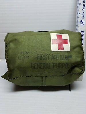 Vintage United States Military First Aid Kit General Purpose Belt Worn Pouch