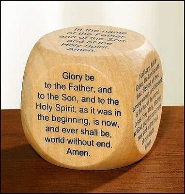 Favorite Catholic Prayers Prayer Cube Wood
