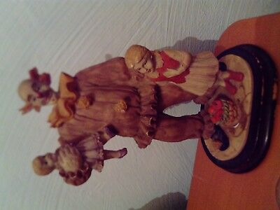 Statuette resine clown cirque circus collection
