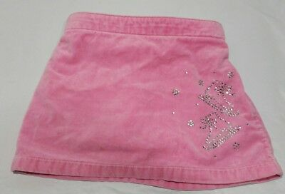 LANDS' END Girls Size 4T Pink Gem Ice Skate Skirt