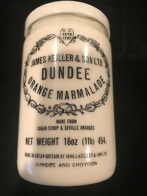 Small James Keiller & Sons Dundee Orange Marmalade stoneware jar