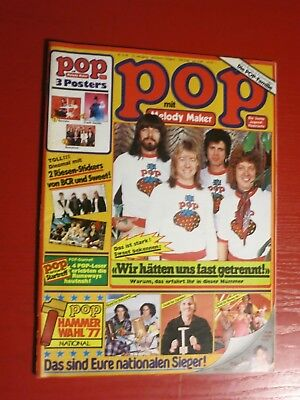POP - German Music Mag+No. 2/1978+Poster SCORPIONS+Stickers+SWEET+STATUS QUO+BCR