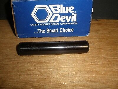 "3/4"" X 4"" Dowel Pin Steel Solid Blue Devil Black Oxide Ebony Finish USA Made"