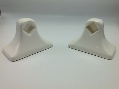 Vintage Towel Bar Rod Holders White Ceramic MID CENTURY MODERN Bath MCM Tile