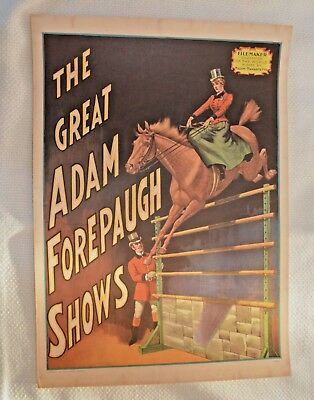 """1960 Vintage """"The Great Adam Forepaugh Shows"""" Circus World Museum Mini Poster"""