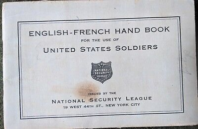 English-French Hand Book for the use of United States Soldiers, WWI