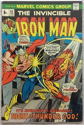 Iron Man #66 (1974 Marvel 1st series) VG/FN condition. 44 years old rare.