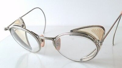 Vintage Ful-Vue Safety Glasses/Goggles Metal Frame Clear Lenses Steampunk