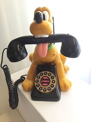 Vintage Official Disney Talking Pluto Home Phone by Telemania New in Open Box