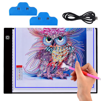 A4 DIY 5D Diamond Painting LED Light Board Table Pad Ultrathin 3.5mm Drawing Pad