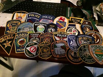 Lot Of 25 Collectible Police Patches 2....free Shipping
