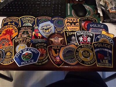 Lot Of 25 Collectible Police Patches 3....free Shipping