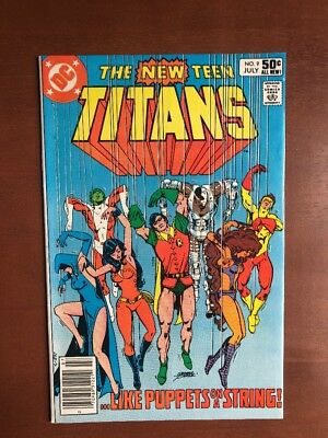 The New Teen Titans #9 (1981) 8.5 VF DC Key Issue Comic Robin App High Grade