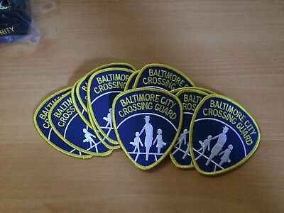 Lot of 12 Baltimore City Crossing Guard Patches