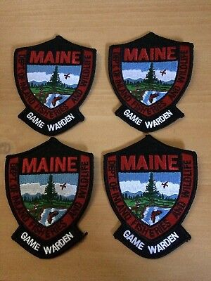 Lot of 4 Maine Game Warden Patch dept of Inland Fisheries and Wildlife