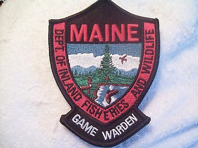 Maine Game Warden Patch dept of Inland Fisheries and Wildlife