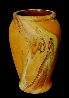 Early Bauer Pottery Hand Thrown Lewis Ipsen Vase HTF Form