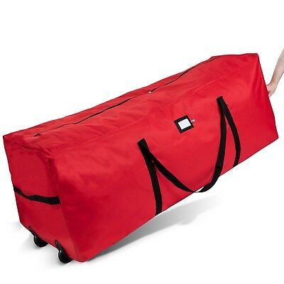Zober Tree Bag - with Wheels Premium 600D Oxford, Easy Roll 17 x 16 x 48 in. Red