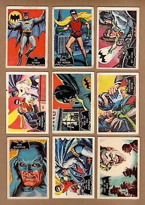 Complete Set of 1966 A&BC ( Topps of England) Batman Trading Cards, 55 Card Set