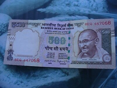 Indian 500 rupee bank note