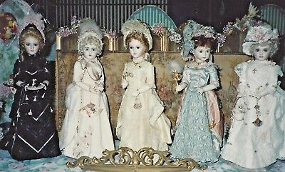 """24""""antique French Fashion Lady Doll Basic Bustle Ball Gown Variations Pattern"""